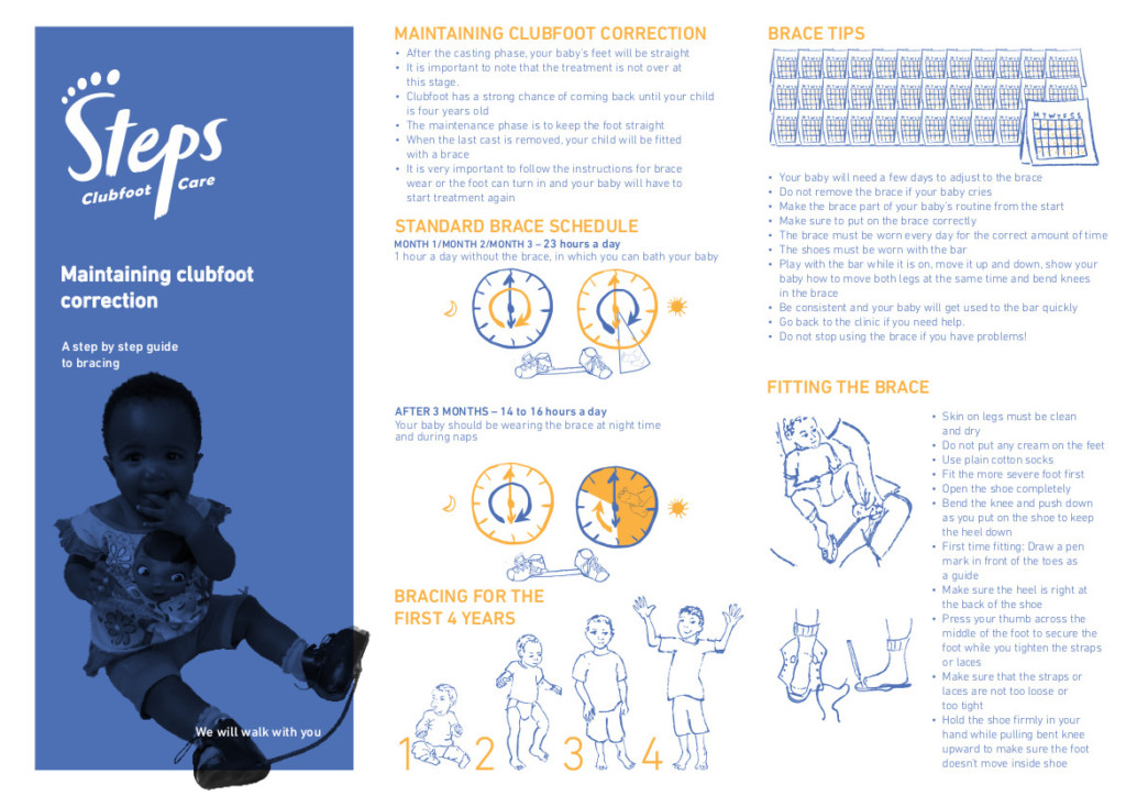 Maintaining clubfoot correction STEPS clubfoot resources downloads